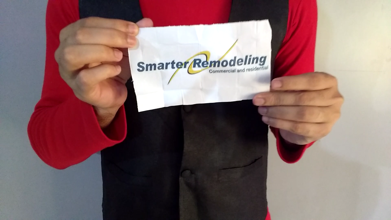 reveal your logo or message in MAGIC trick video