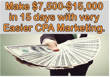 will teach you how to make 700 dollars per day with CPA Marketing
