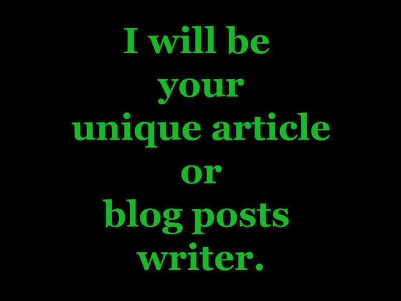 write impressive SEO Articles for Your Website or Blog