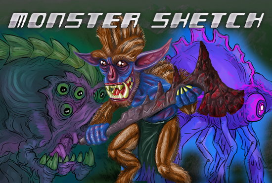 draw a cool alien, monster, or creature