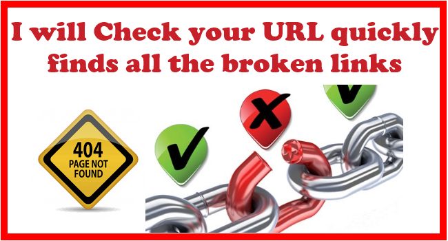 Check your webpage quickly finds all the broken links
