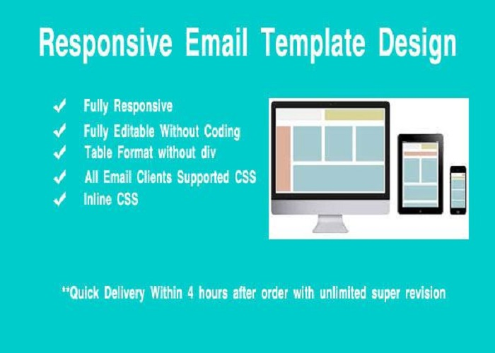 design Responsive Editable Email Template
