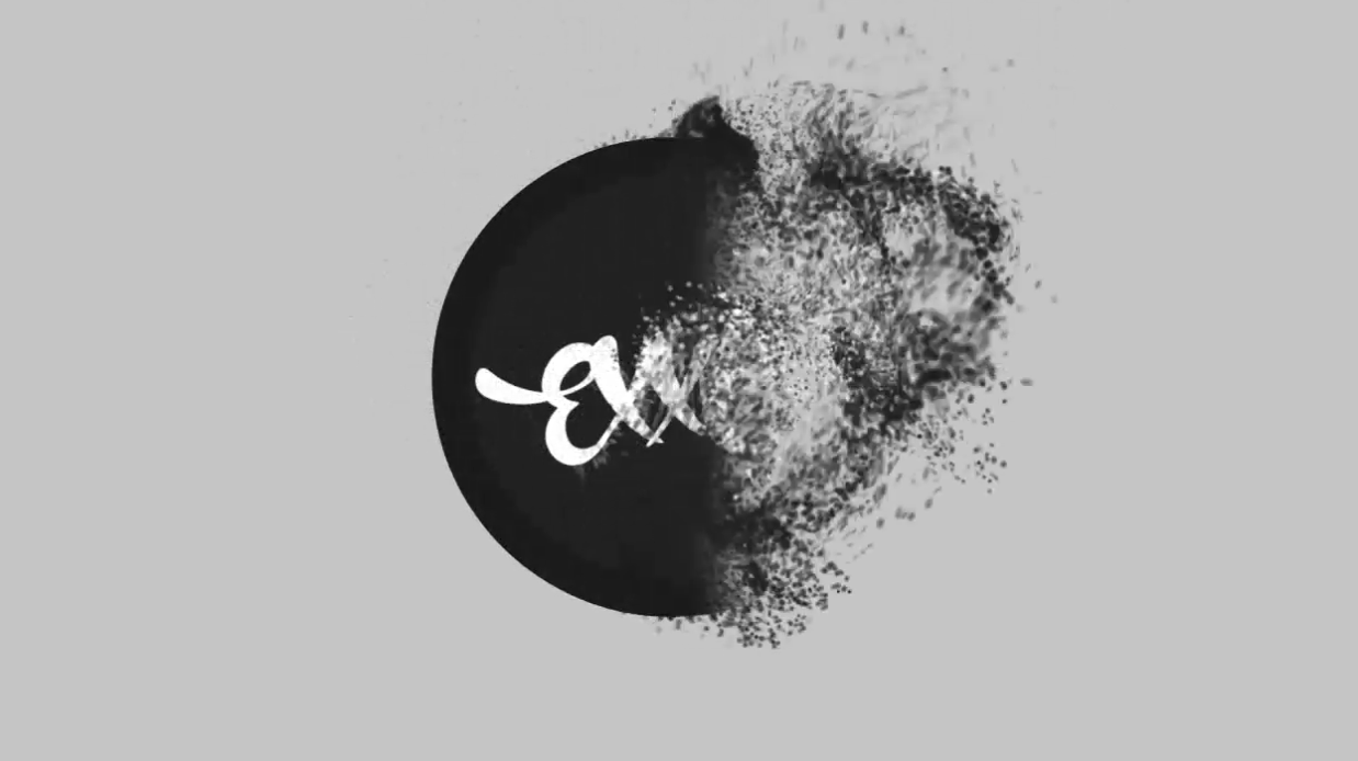 create a particle logo reveal video