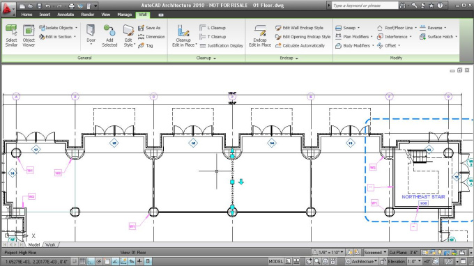 create an AutoCAD drawing / project from your sketch