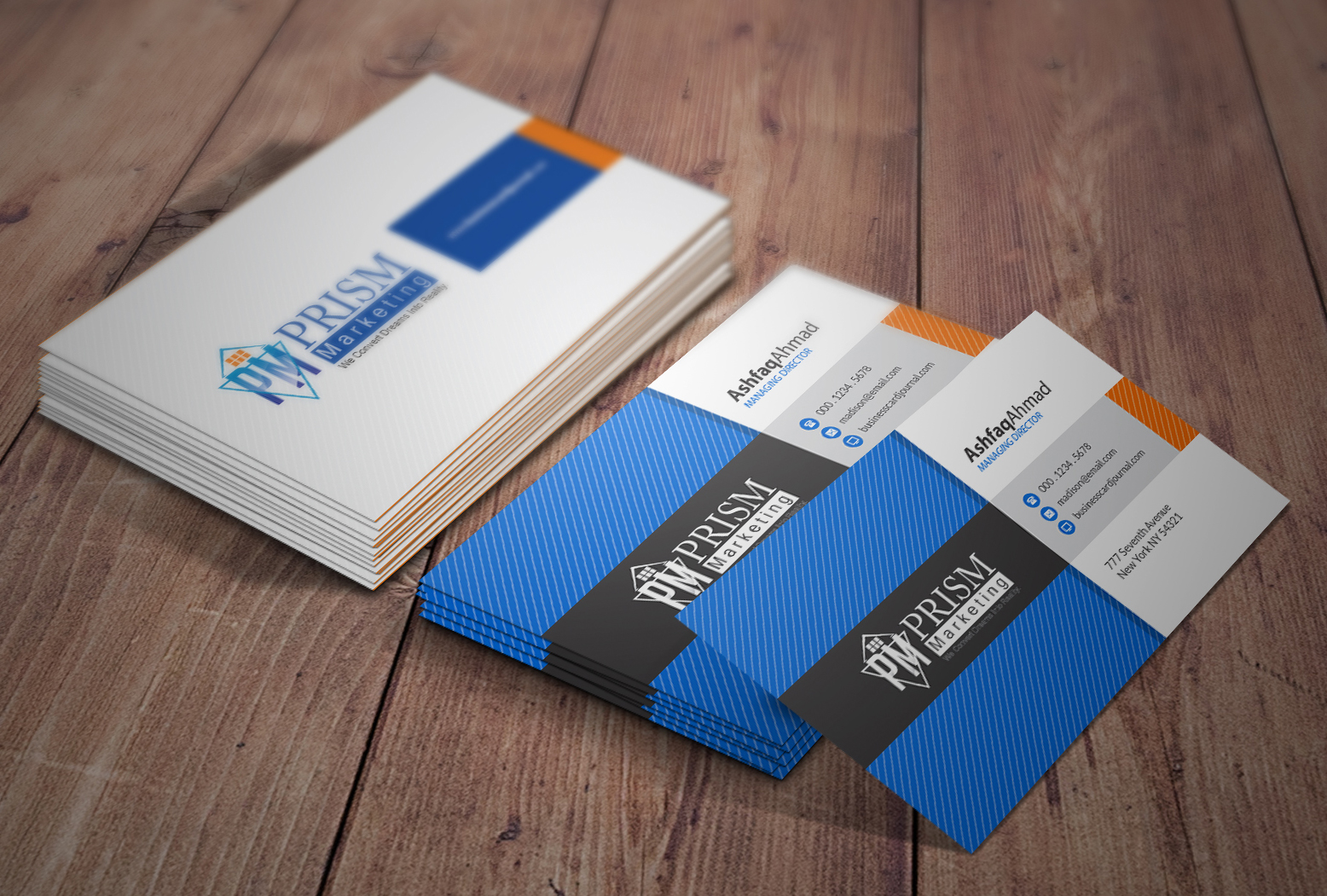 design a professional and elegant business cards