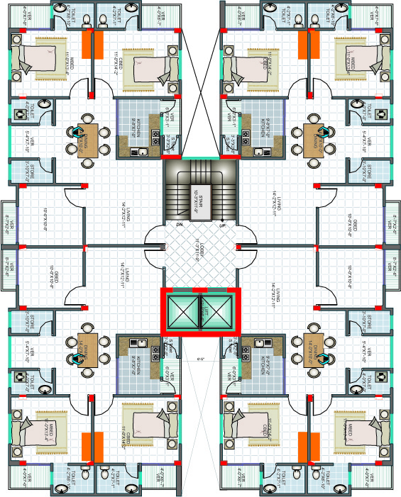 CAD(Architectural Drawing) your floor plan only