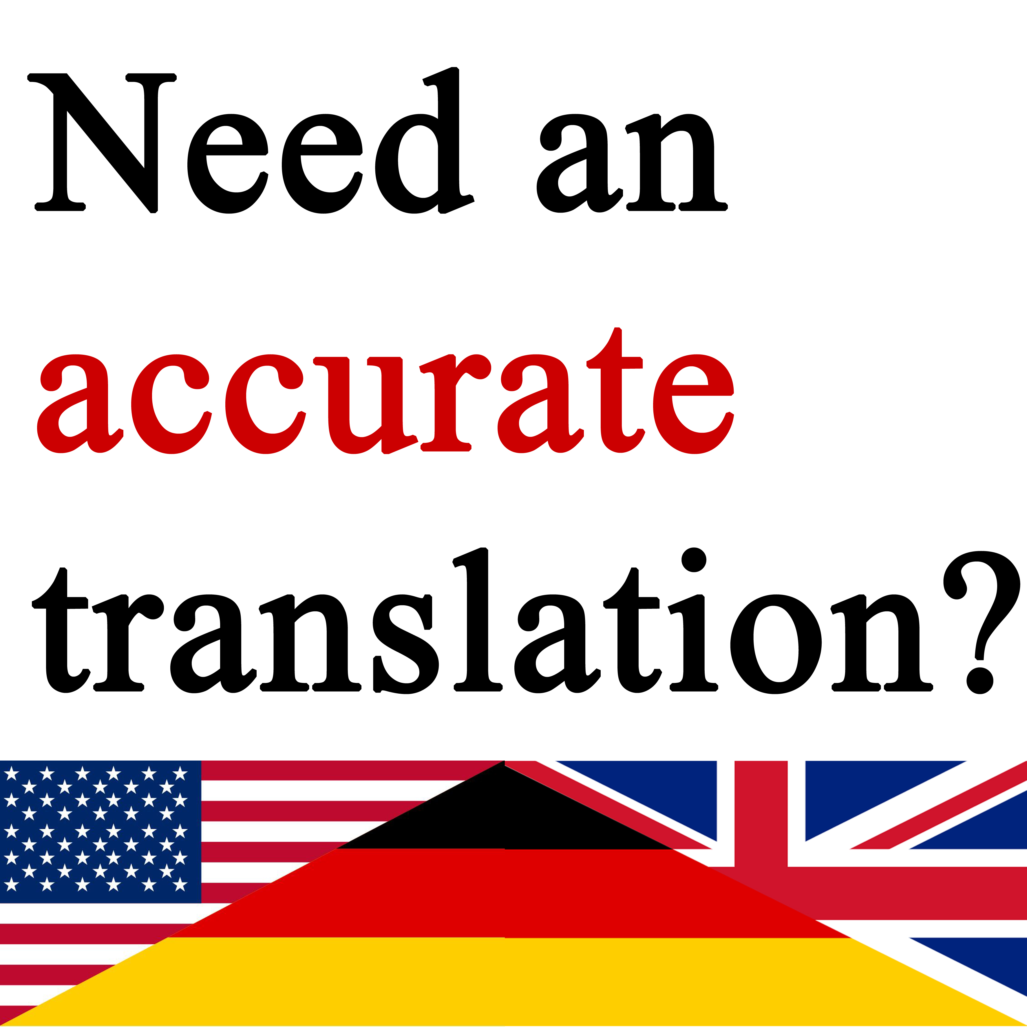translate your text of any type into native German or vice
