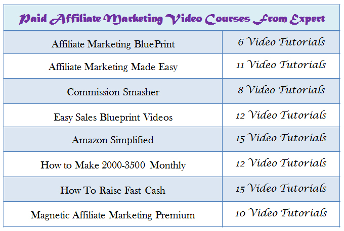 Give Best Paid Affiliate Marketing Video Course