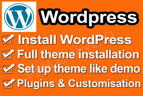 install wordpress demo theme within 3 hours