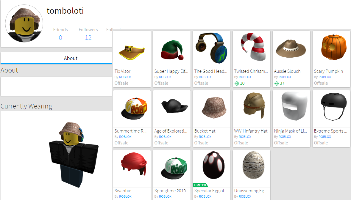 sell my roblox 2010 account