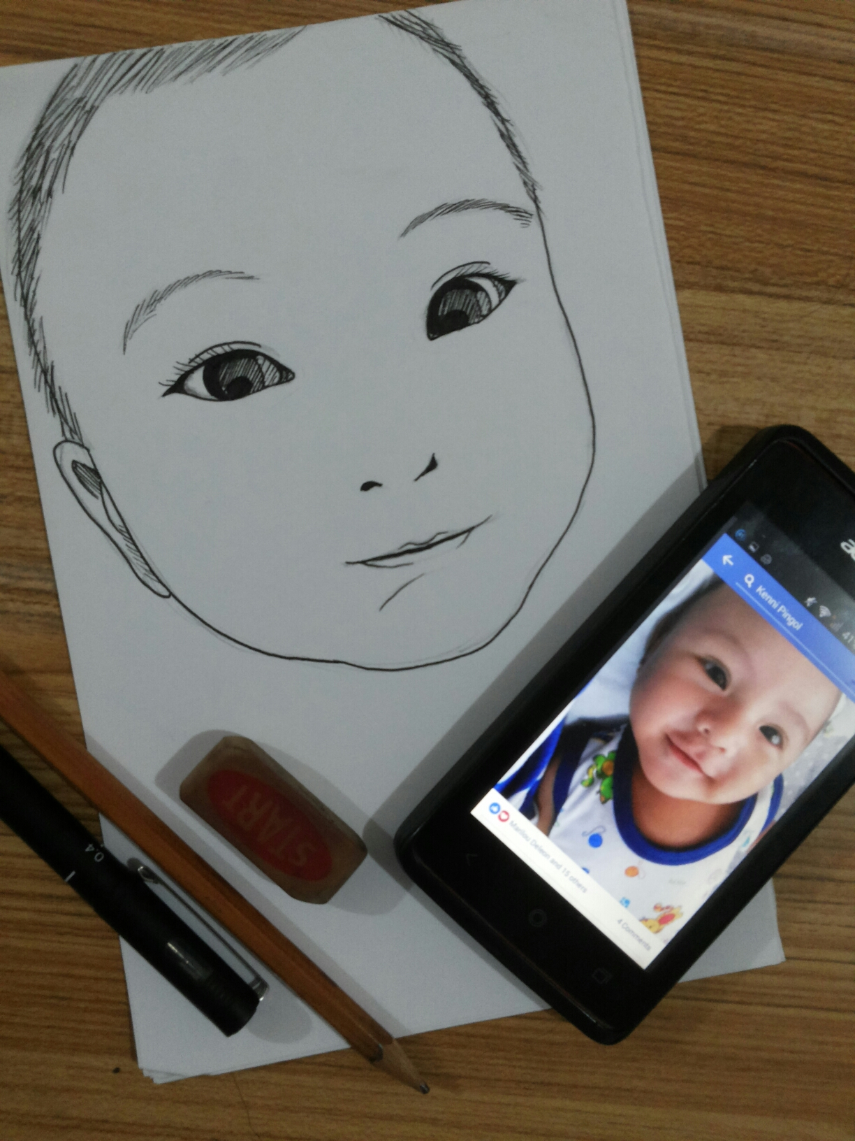 draw 3 family faces for children's coloring books