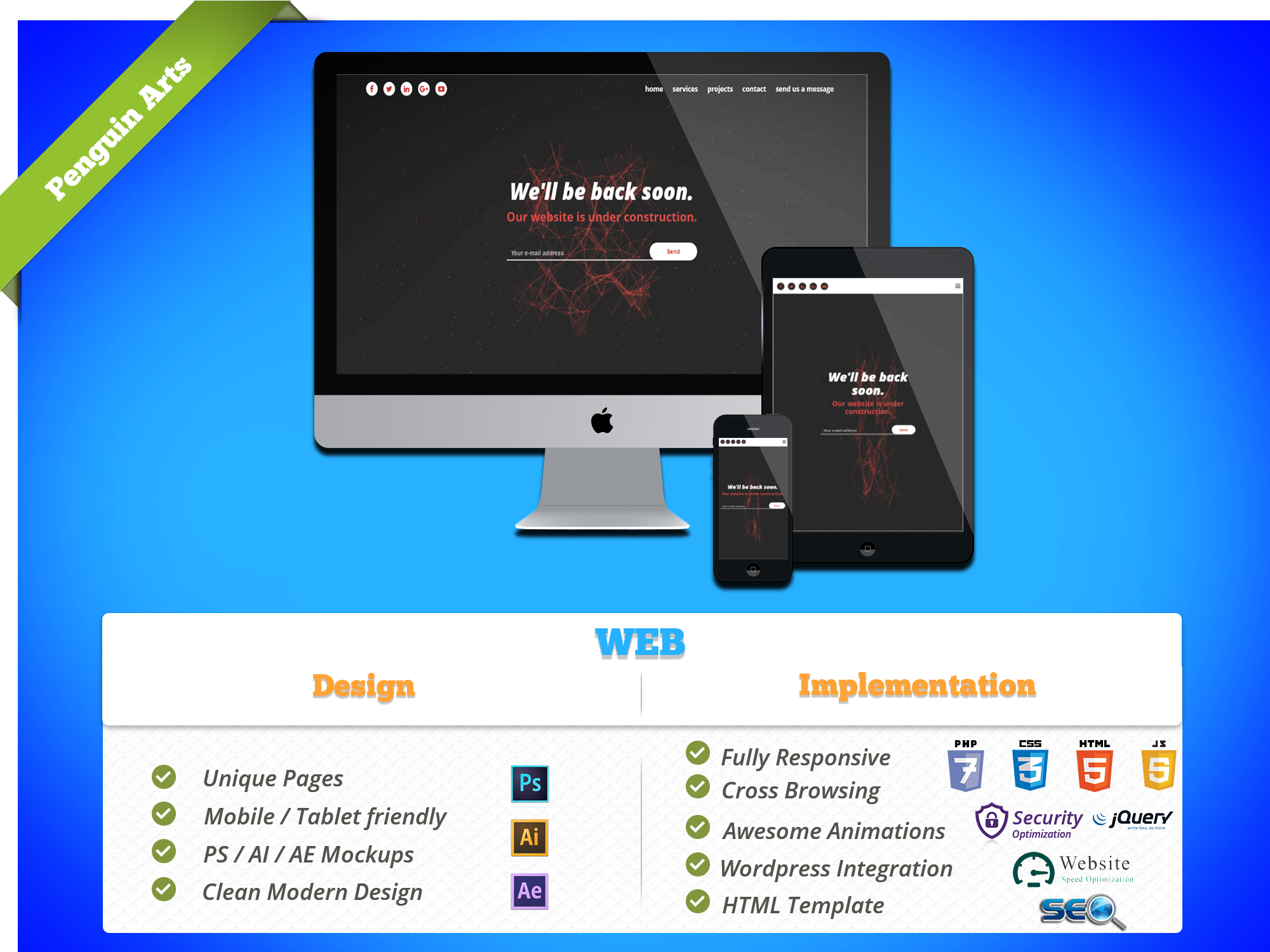 design a beautiful website for you