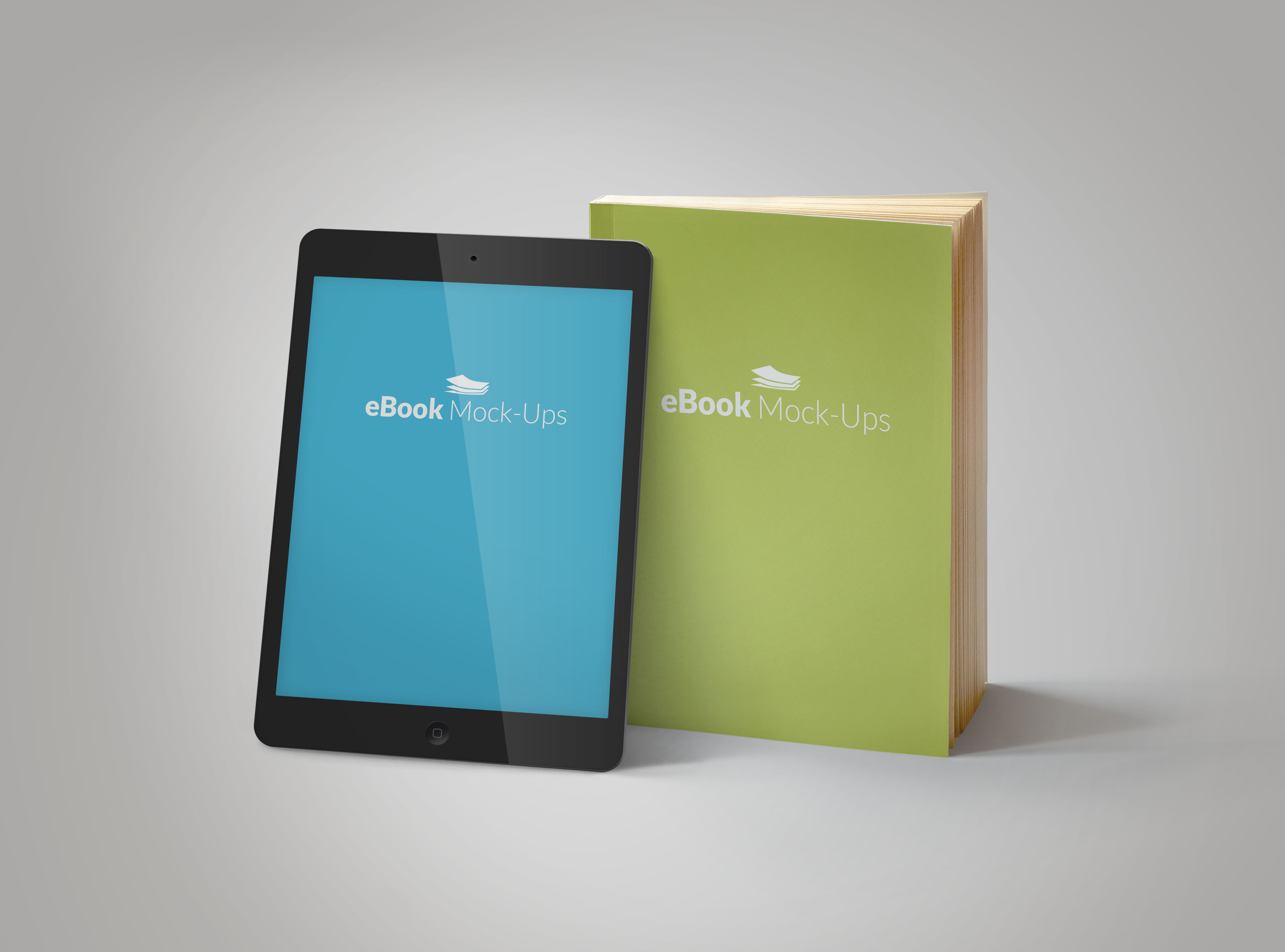 create 3D book cover mockups