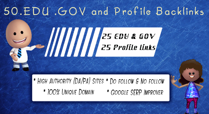 create 25 Edu Gov and 25 Authority  Profile backlinks