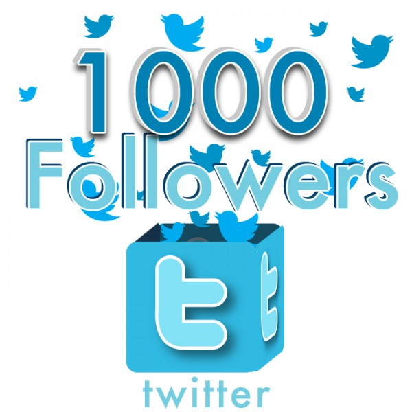 give 1,000 Twitter Followers in 5$