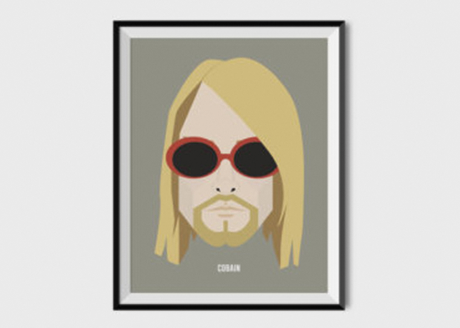 deliver a high resolution poster of kurt cobain