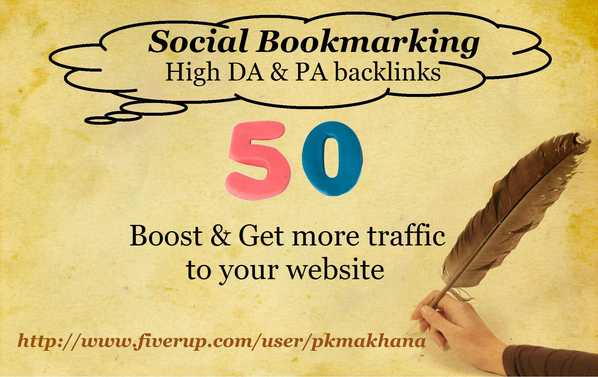 create 50 Social Bookmarking with High Domain Authority