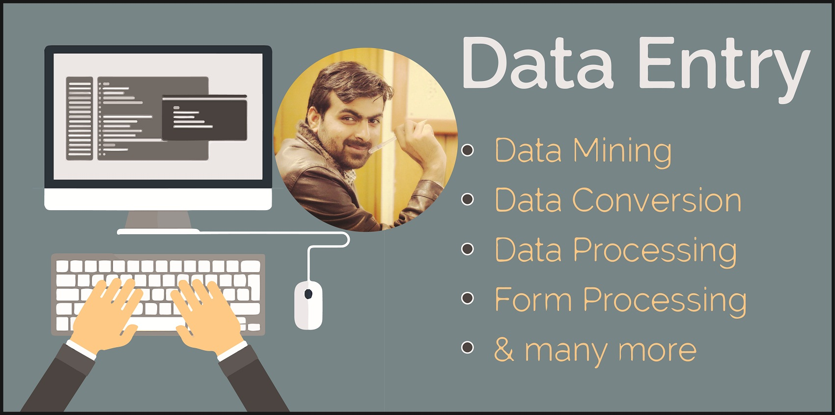 do any kind of data entry work foe 3 hours