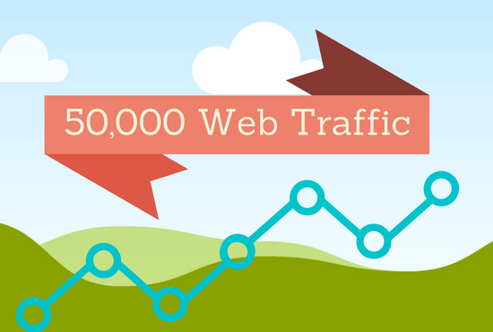 send 50,000 quality web traffic to your site
