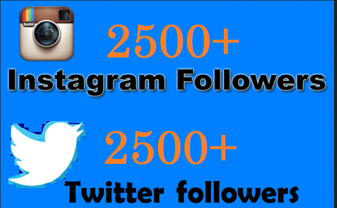add 1000 real twitter or Instagram followers in 72hrs