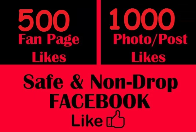 promote your facebook post 1000 Like & 500 Fan Page