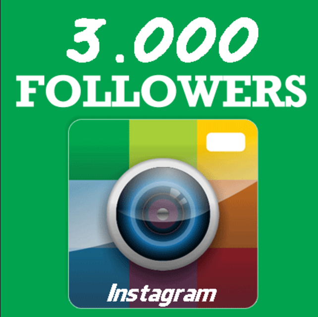 give you 3000 InstagramFollowers