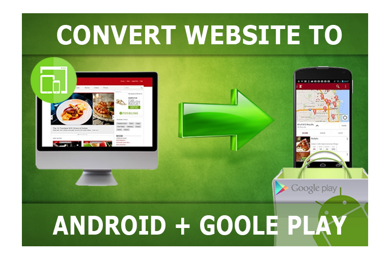 convert your website to android app and upload it to google play store