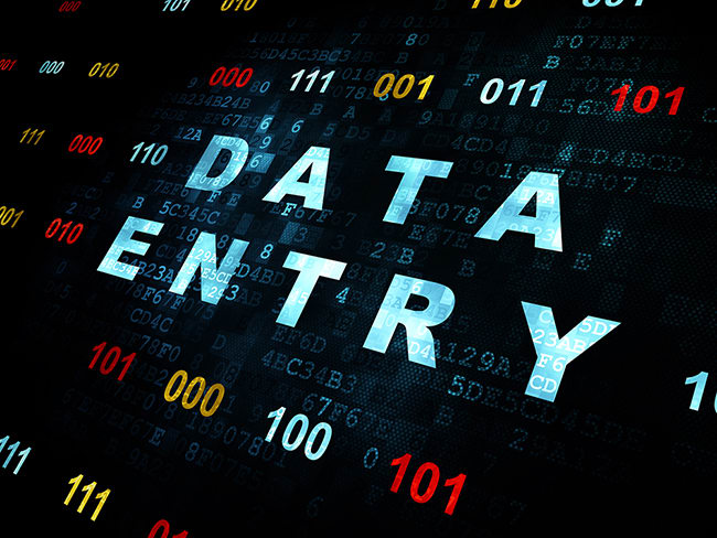 do data entry of any kind