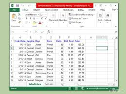 Compile your data into an excel spreadsheet