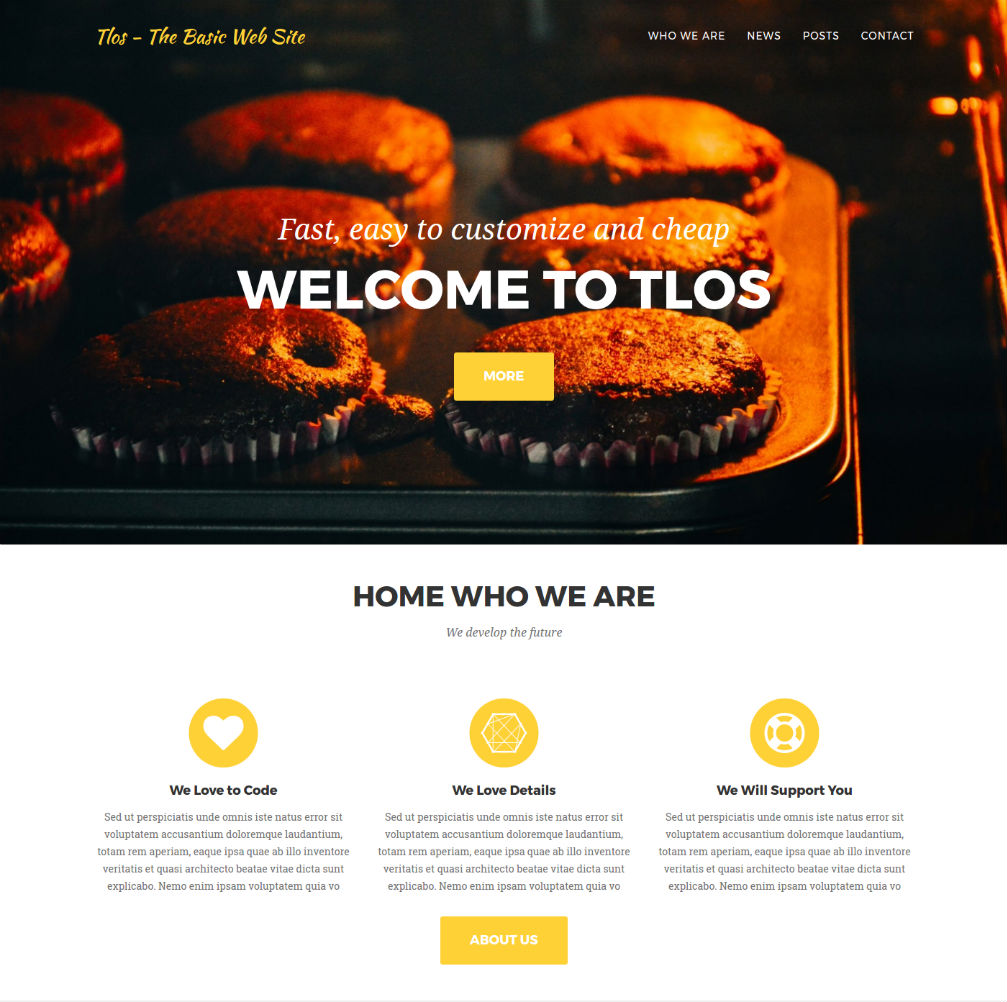 give responsive web site with admin panel