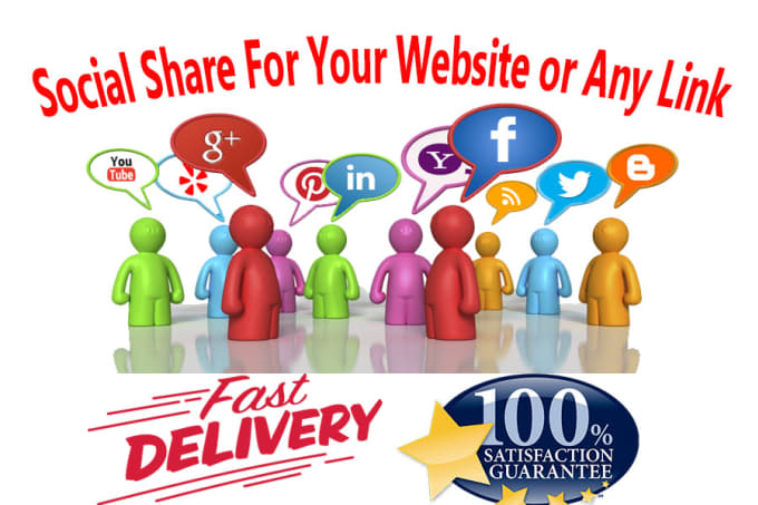 provide 200 Social Share For Your Website or Any Link