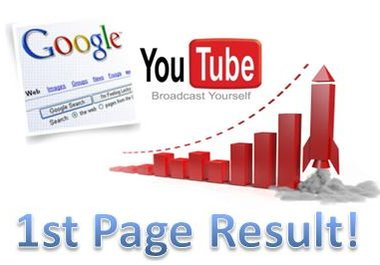 Get Your YOU TUBE FIRST PAGE Advance Youtube Video Ranking On youtube page1 and google 1