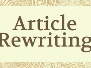 Rewrite Text,Article,eBook At Professional Method!