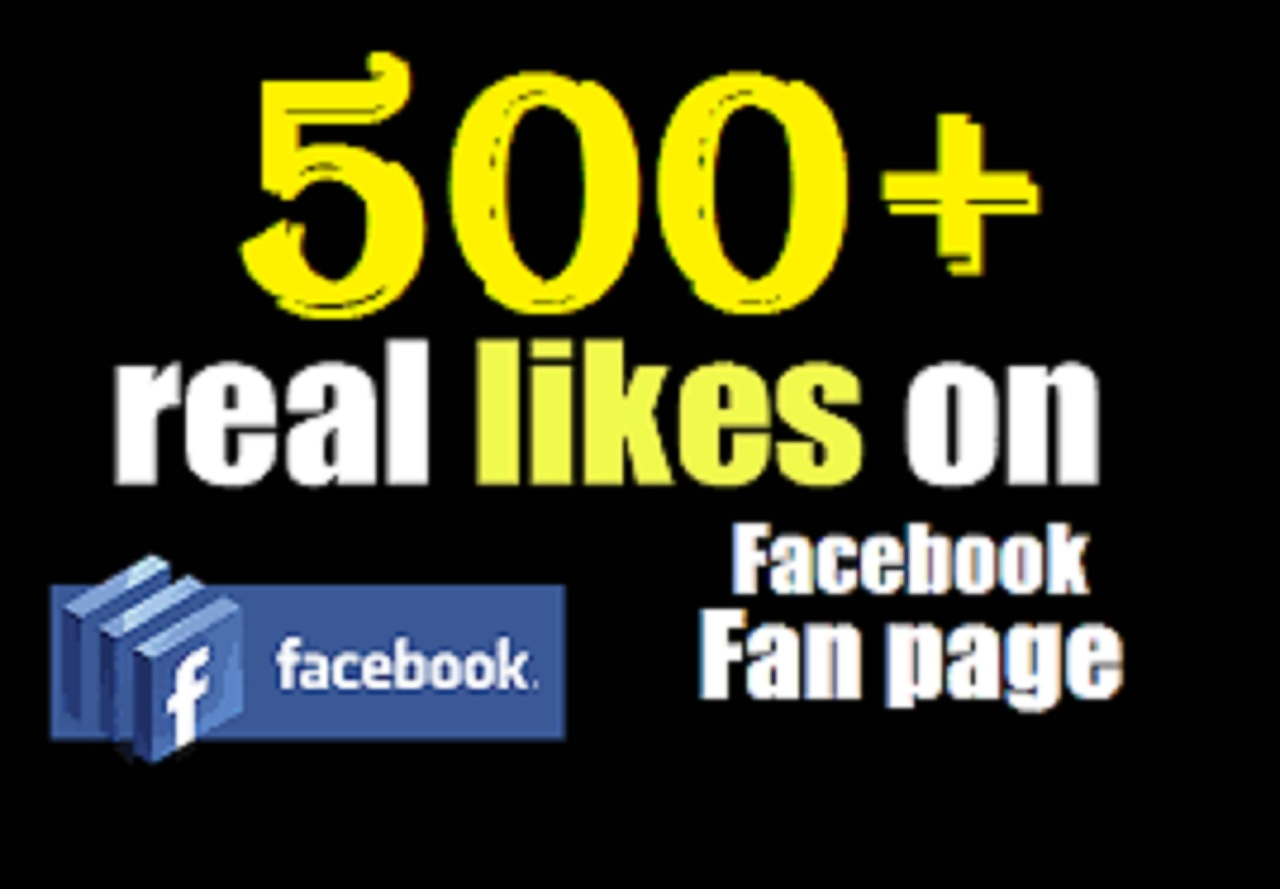 Promote and add 500fans or likes real and non drop