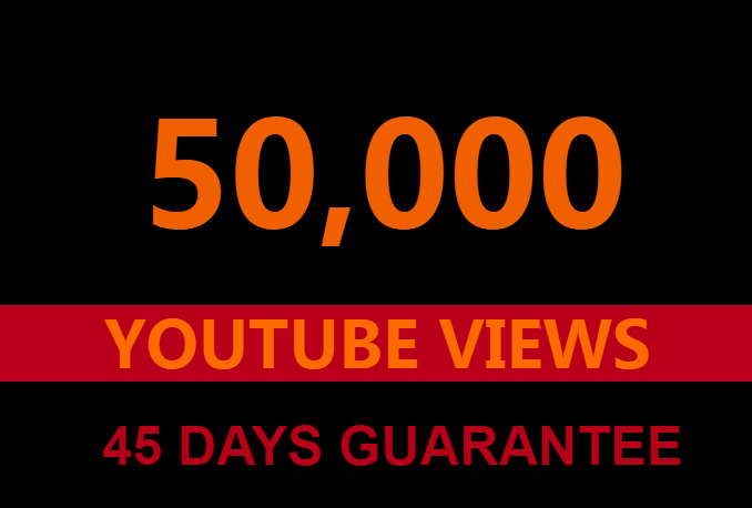 50000 youtube views +1000 likes +100 subscribers