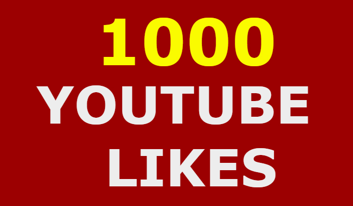 1000 Youtube Likes  within 24/72h