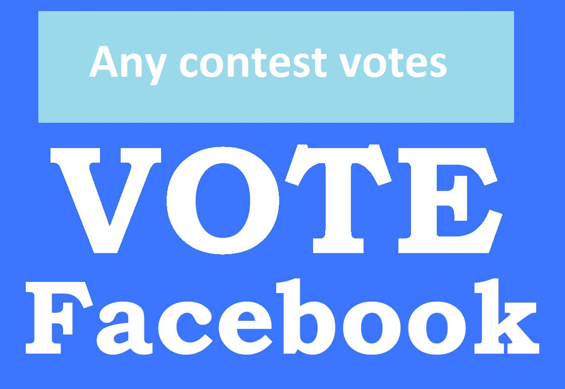 give 125 US facebook vots in any contest or website
