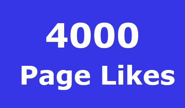 4000 Facebook fanspage likes