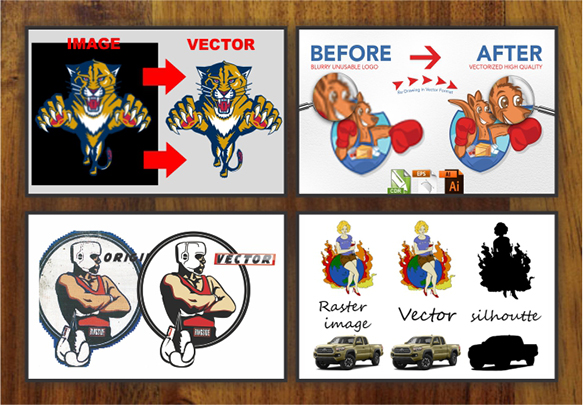do Convert Logo and Design To Vector Trace , Remake