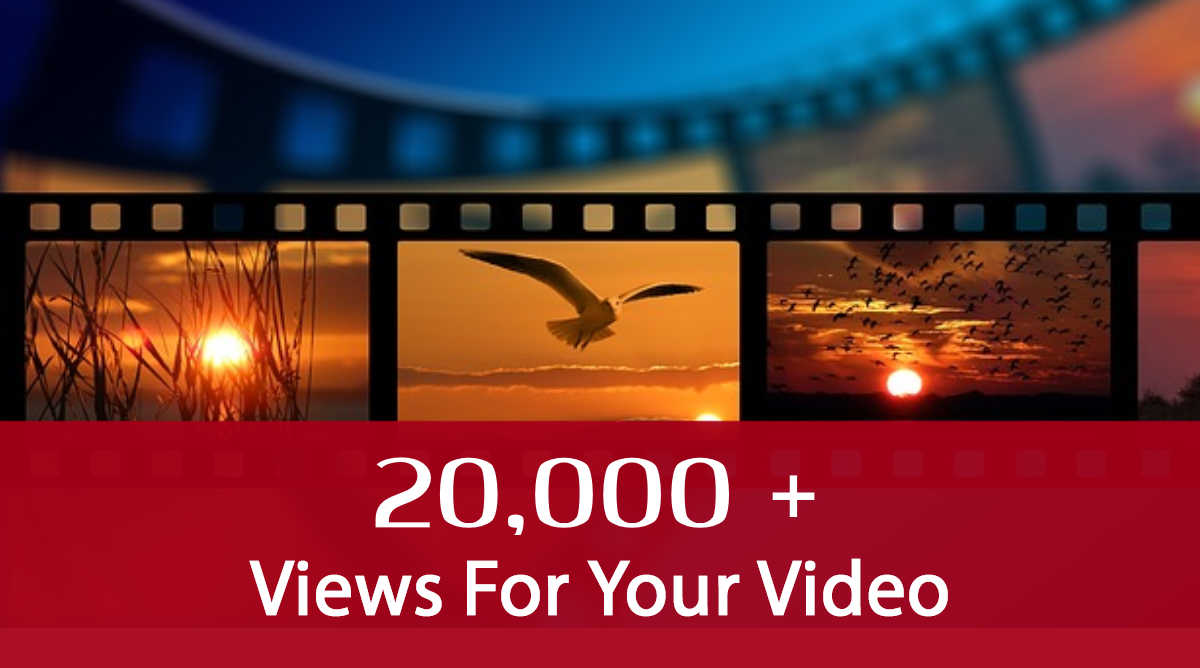 add 20k visitors, i.e. 20,000 views to your Youtube video