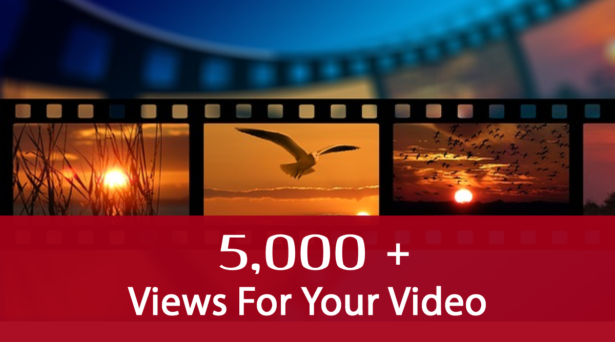 add 5k visitors, i.e. 5,000 views to your Youtube video