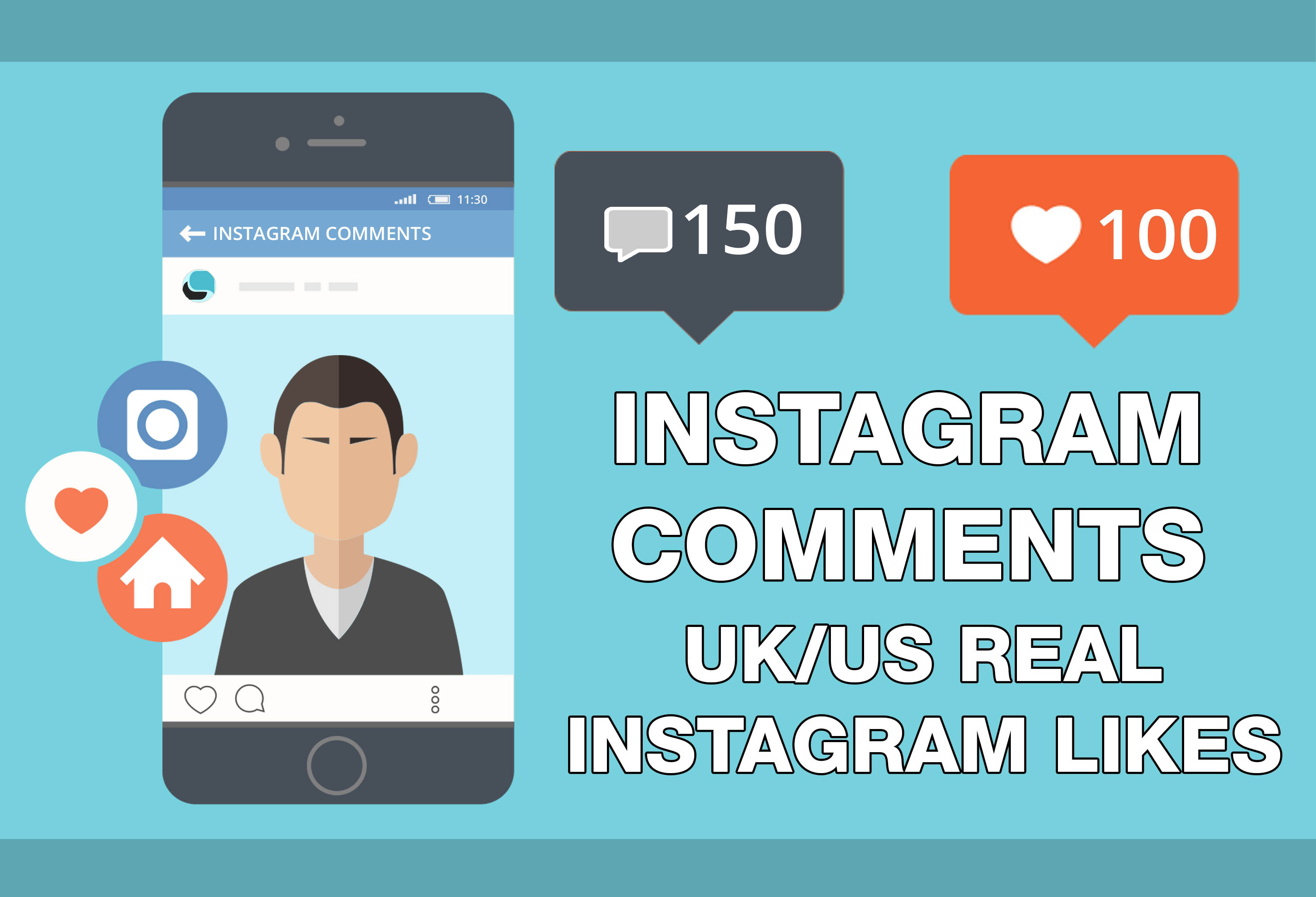 DELIVER 500 REAL UK/US BUSINESS & PERSONAL INSTAGRAM LIKES & 15 REAL INSTAGRAM COMMENTS