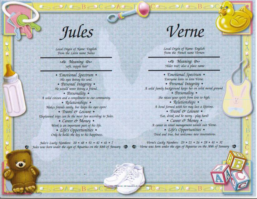 Personalized Dual Name Meaning for Boys, Brothers, Twins, Sons, Grandsons