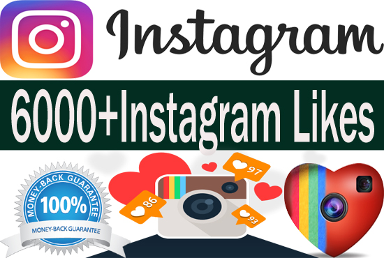 add 6000 Instagram Photo,Post likes Or Video Views Guaranteed