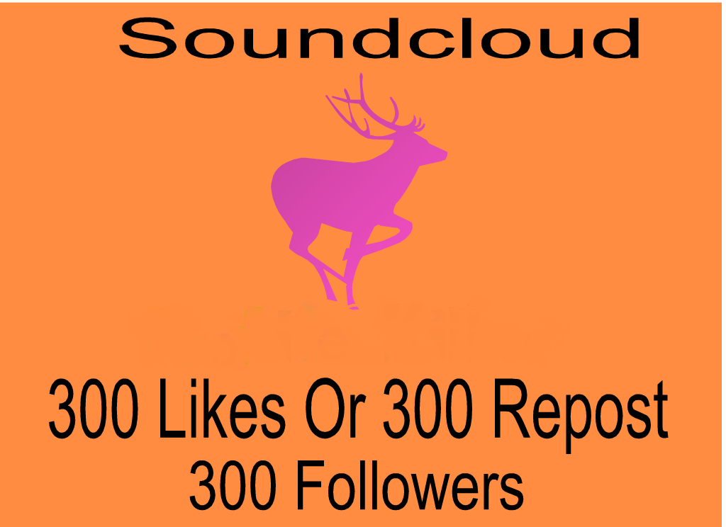 add Soundcloud 300 Likes Or 300 Repost Or 300 Followers