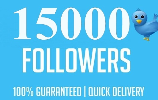 give you Instantly 15000+ Permanent Twitter FoIIowers within 24 Hours Limited Time Offer