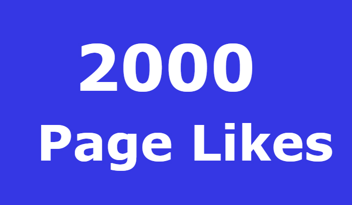 2000 Facebook Fanspage likes FAST