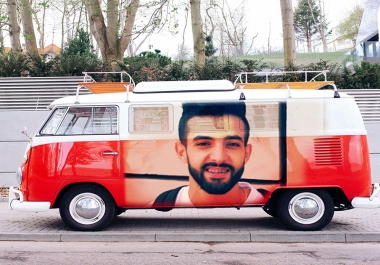 Create Your Logo Or Photo On Mockup BUS