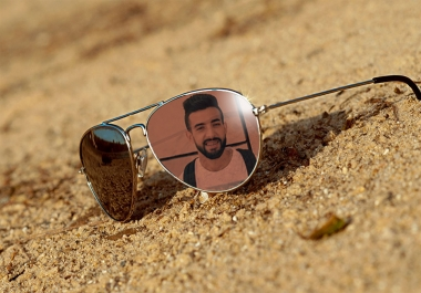 Put Your Picture On The Beach Sunglasses
