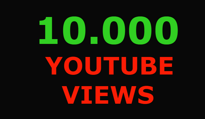 10000 Youtube views and 100 youtube likes